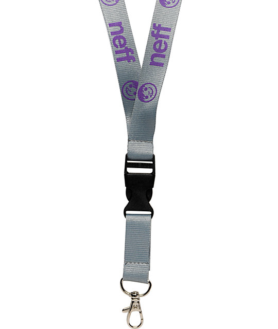 Neff Neffyard Grey & Purple Lanyard