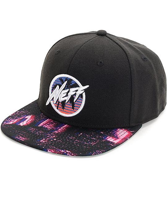Neff Neon City Black Snapback Hat