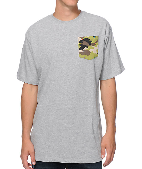 Neff Nifty Grey Camo Pocket T-Shirt