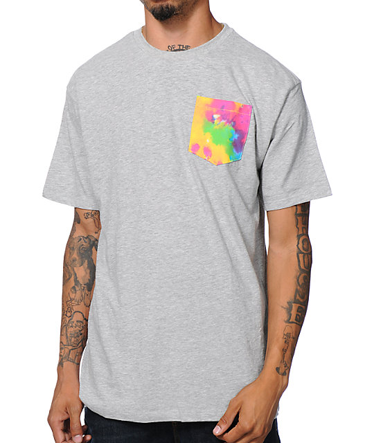 Neff Nifty Grey Tie Dye Pocket T-Shirt