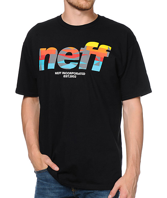 Neff Numeral Native Print Black T-Shirt
