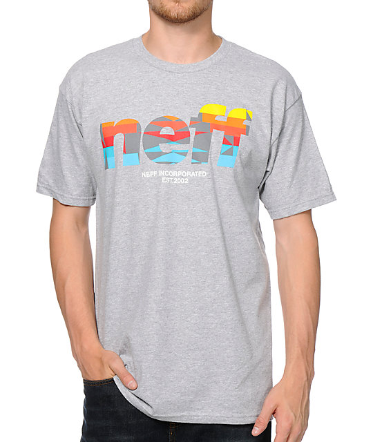 Neff Numeral Native Print Grey T-Shirt