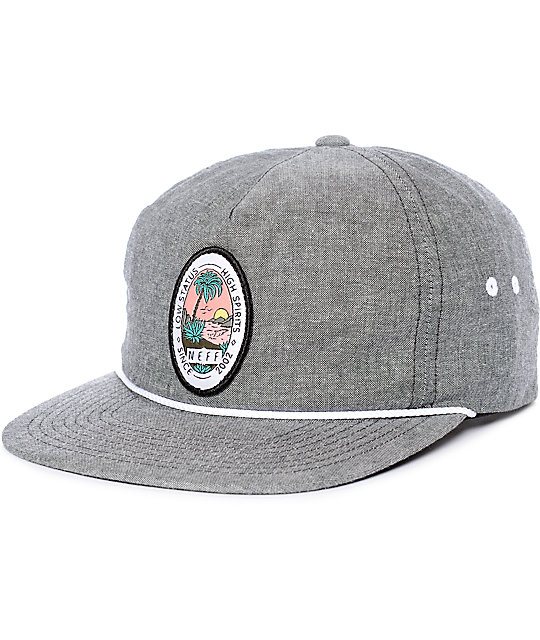 Neff Palm Palm Heather Black Snapback Hat