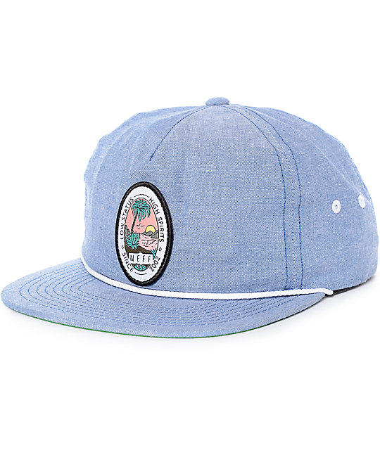Neff Palm Palm Heather Navy Snapback Hat