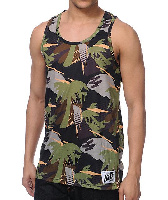 Neff Palms Camo Print Tank Top