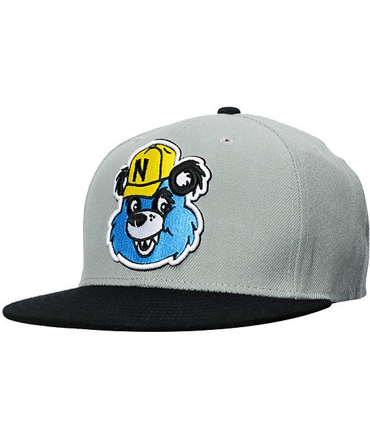 Neff Pandaman Grey Snapback Hat