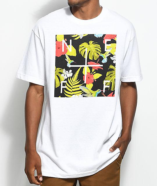Neff Plus Box Floral White T-Shirt