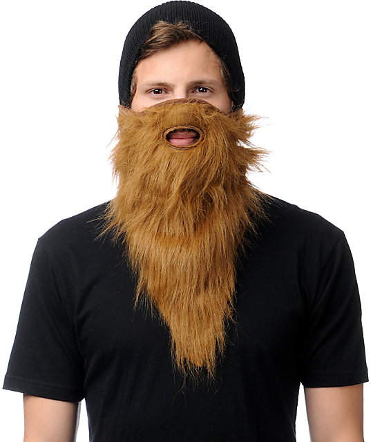 Neff Prospector Brown Beard Face Mask Bandana