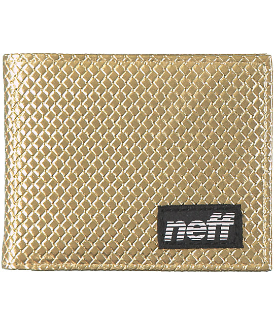 Neff Pully Gold Bifold Wallet