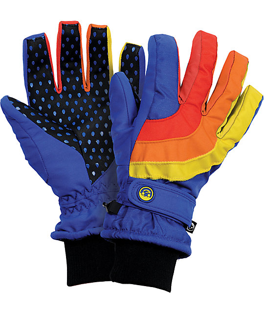 Neff Rainbow Blue Womens Snowboard Gloves