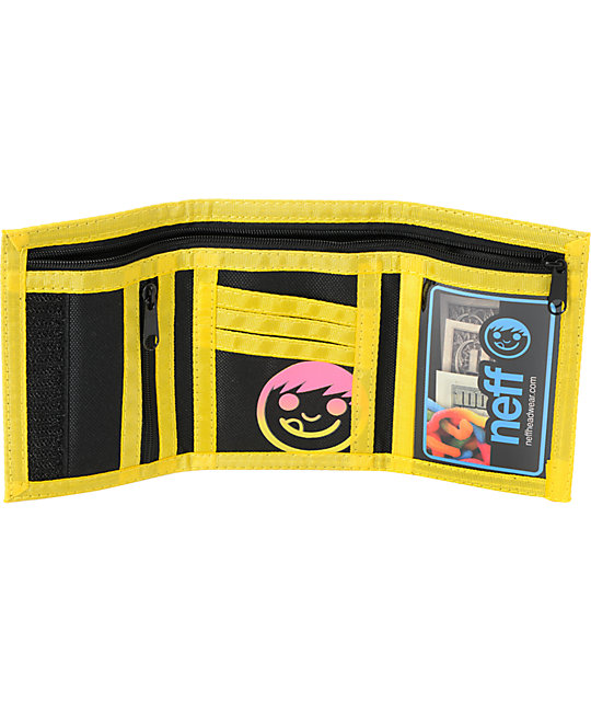 Neff Rippin Yellow & Black Tri Fold Wallet