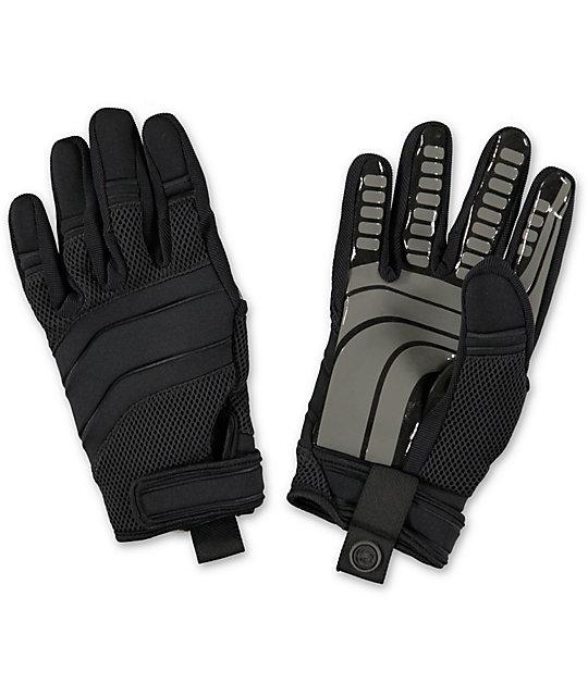 Neff Rover Black Pipe Snowboard Gloves