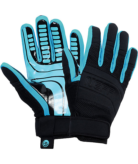 Neff Rover Cyan Pipe Snowboard Gloves