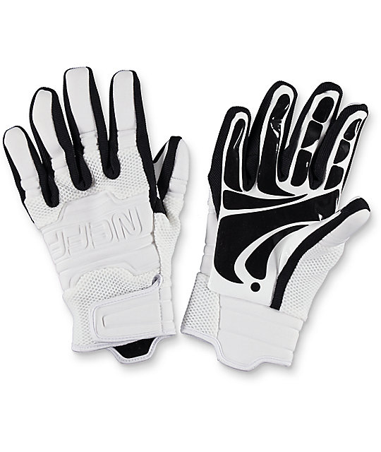 Neff Rover White & Black Pipe Snowboard Gloves