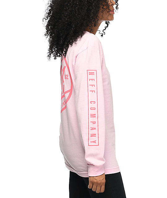 Neff Rylan Long Sleeve Pink T-Shirt