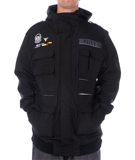 Neff Sarge Black Softshell Jacket