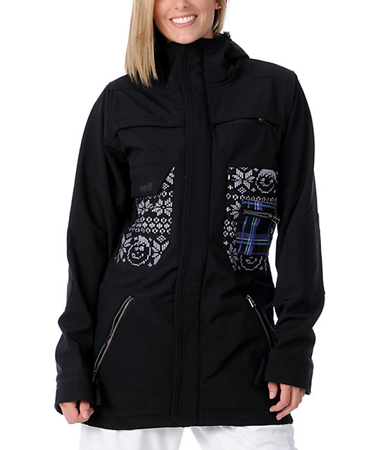 Neff Sargette Black 10K Softshell Snowboard Jacket