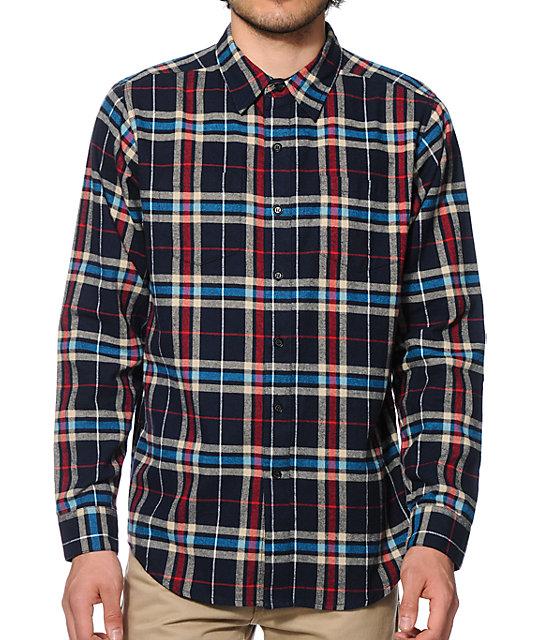 Neff scott flannel button up shirt for Button up flannel shirts
