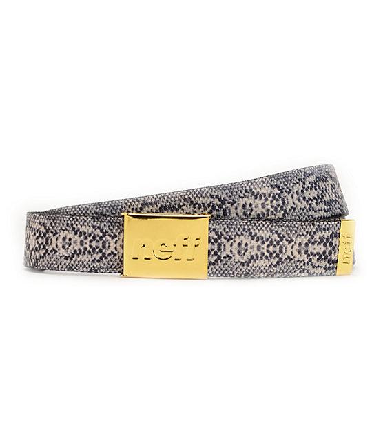 Neff Serpent Swag Snake Skin Print Web Belt