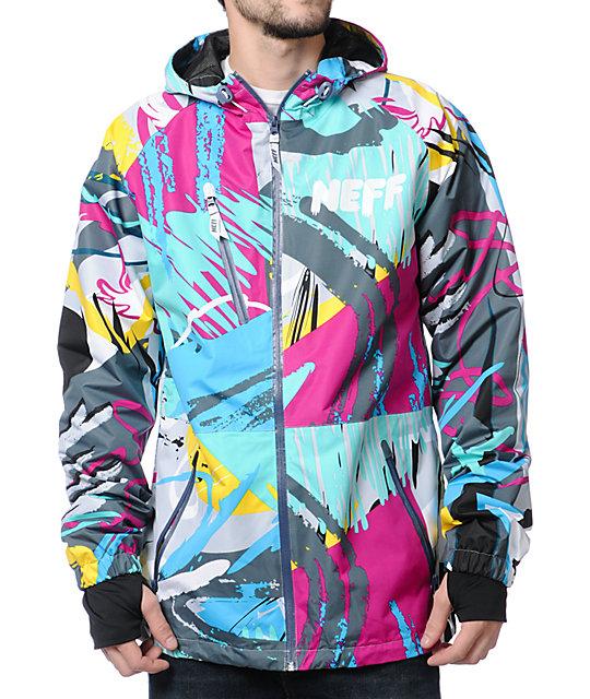 Neff Sno Poncho Clutter Blue Jacket