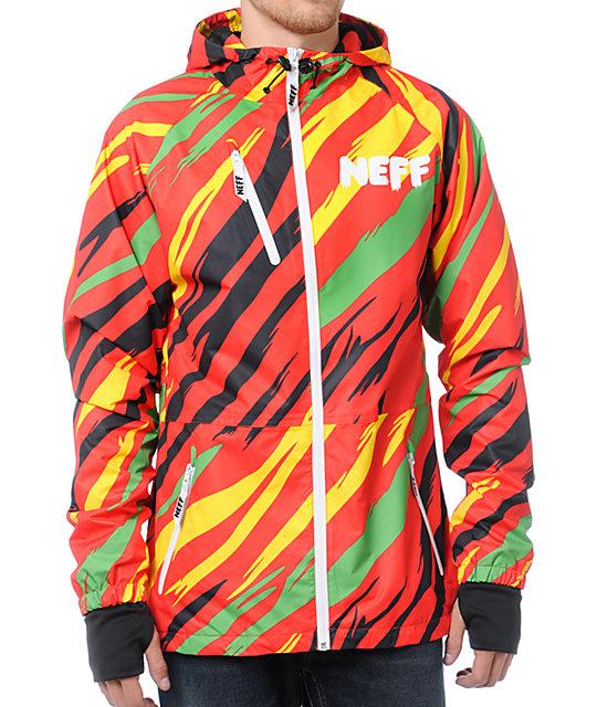 Neff Sno Poncho Rasta Jacket