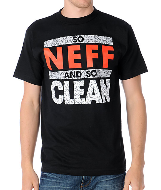 neff so clean black t shirt zumiez. Black Bedroom Furniture Sets. Home Design Ideas