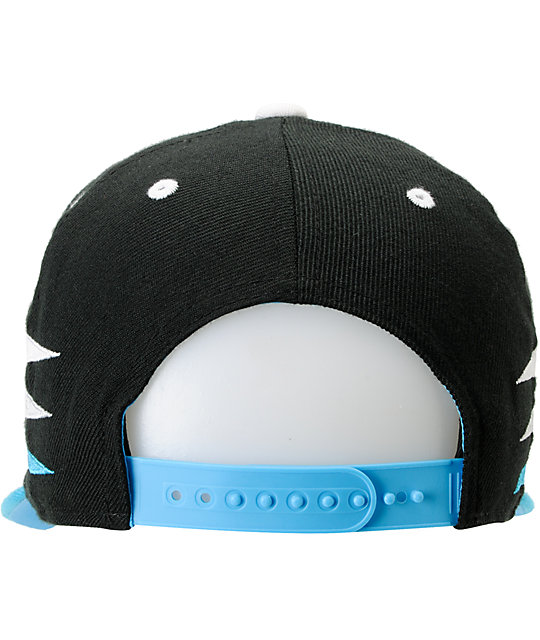 Neff Sporty Black & Cyan Snapback Hat