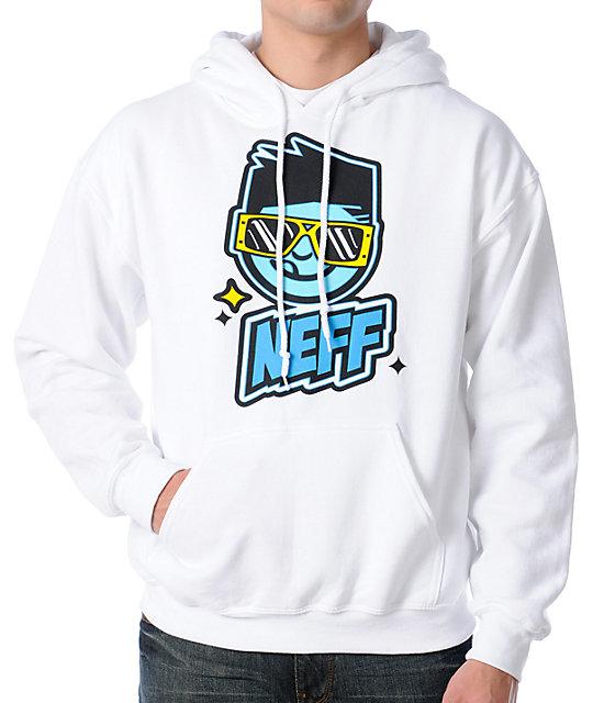 Neff Stunner White Pullover Hoodie