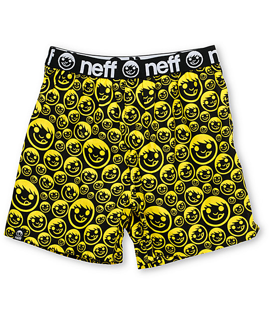 Neff Suckerface Black & Yellow Boxers