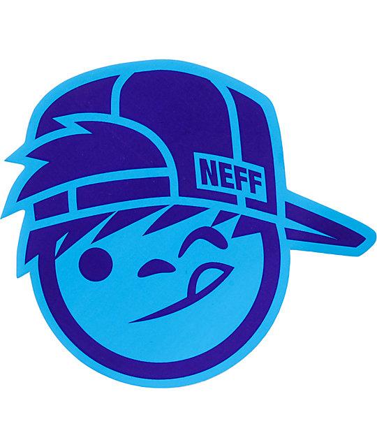 Neff Suckerface Blue Sticker