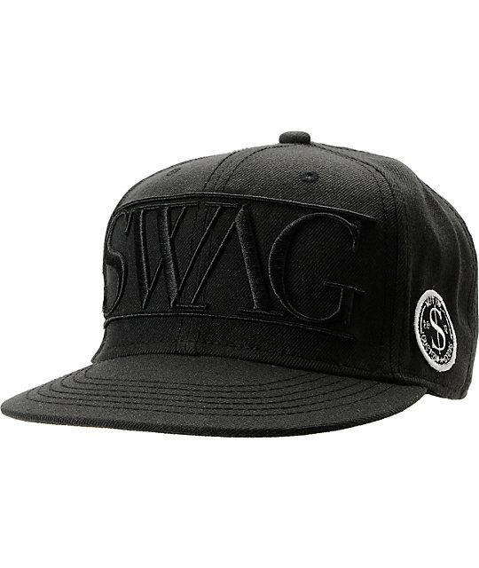 Neff Swag Black Snapback Hat