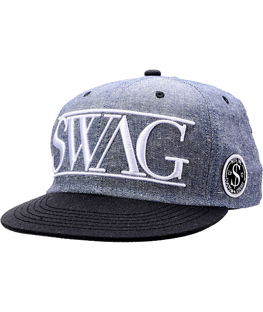 Neff Swag Grey Snapback Hat
