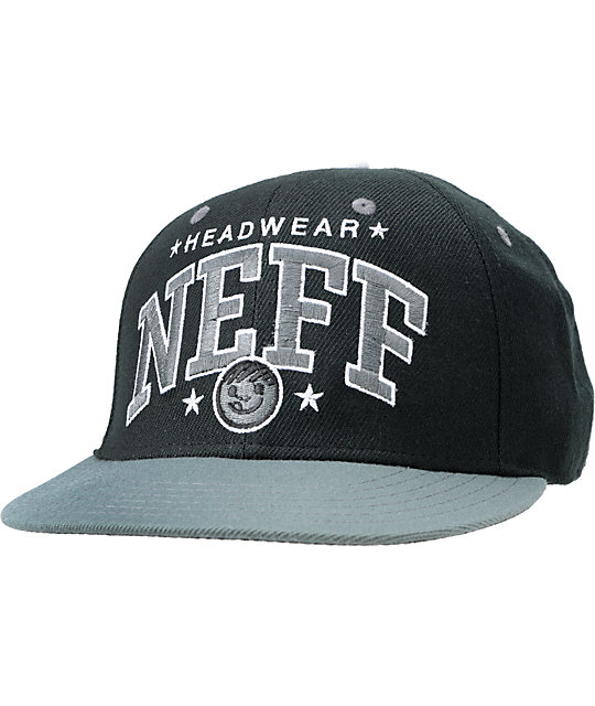 Neff Team Black & Grey Arch Snapback Hat