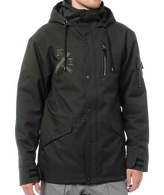 Neff The Kon Military Green 10k Snowboard Jacket
