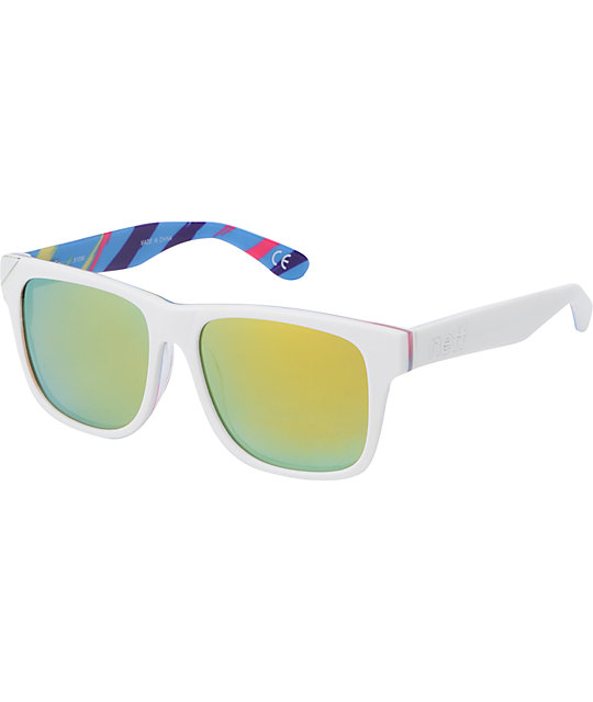 Neff Thunder White & Wild Tiger Polarized Sunglasses
