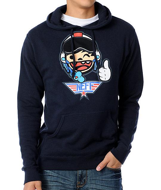 Neff Top Gunner Navy Pullover Hoodie