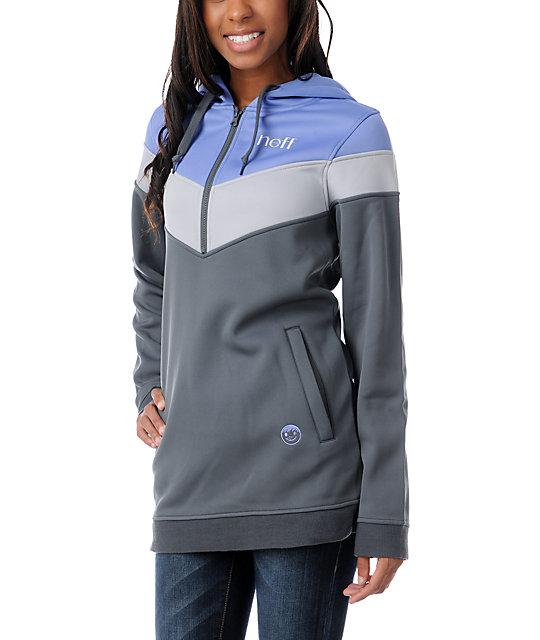 Neff Triad Purple Tech Fleece Jacket Pullover Hoodie