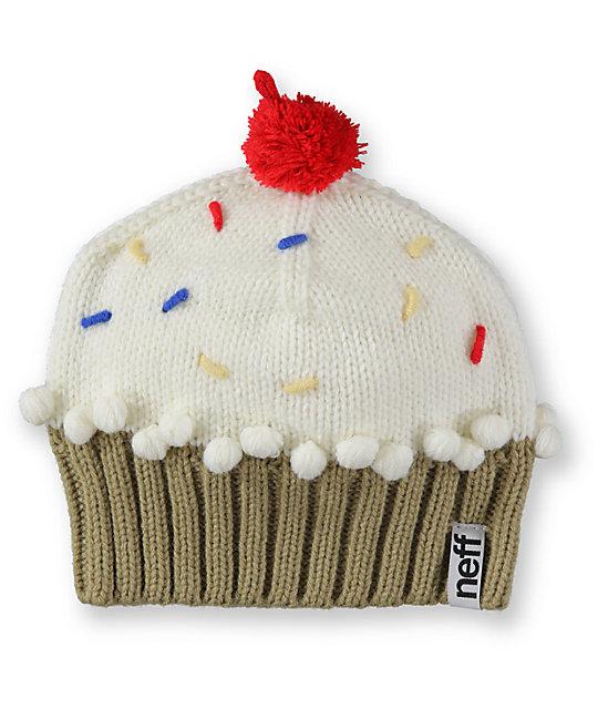 Neff Vanilla White Cupcake Beanie