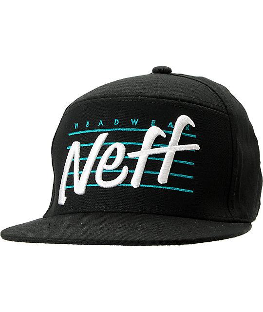 Neff Vicer Black Snapback Hat