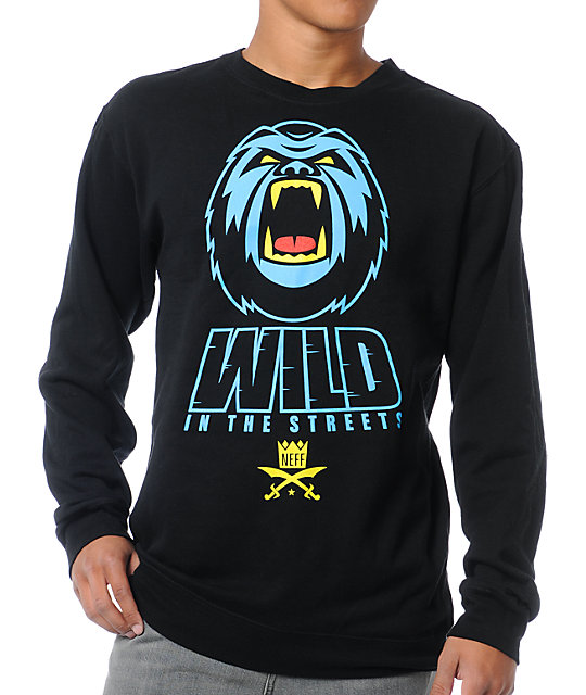 Neff Wild Black Crew Neck Sweatshirt