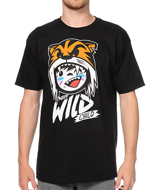 Neff Wild Child Black T-Shirt