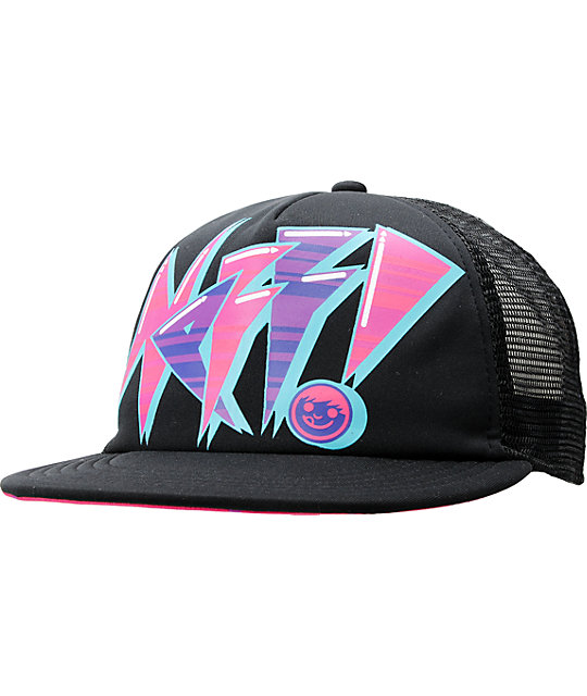 Neff Wildcat Black Trucker Snapback Hat