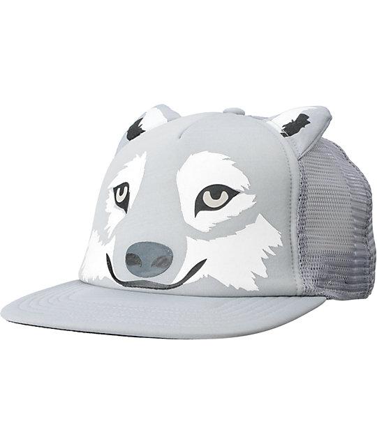 Neff Wolf Grey Snapback Trucker Hat