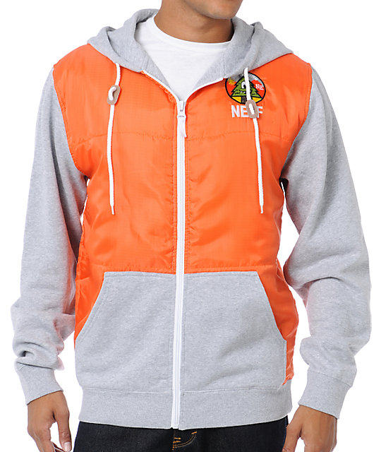 Neff Woodchip Orange Zip Up Hoodie at Zumiez : PDP
