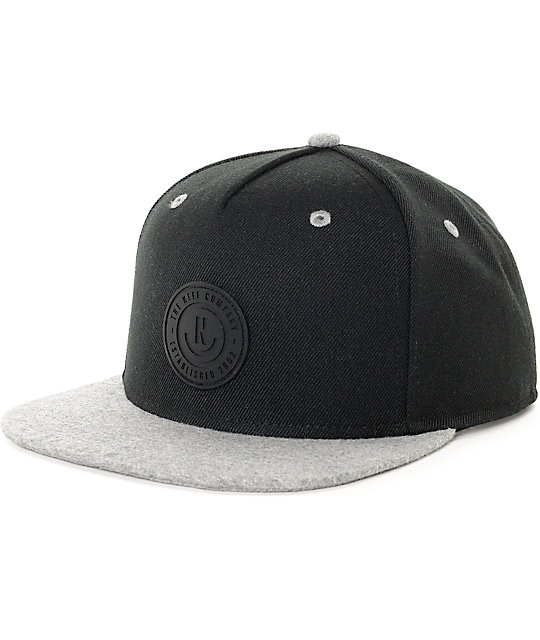 Neff XZ Black & Heather Grey Snapback Hat