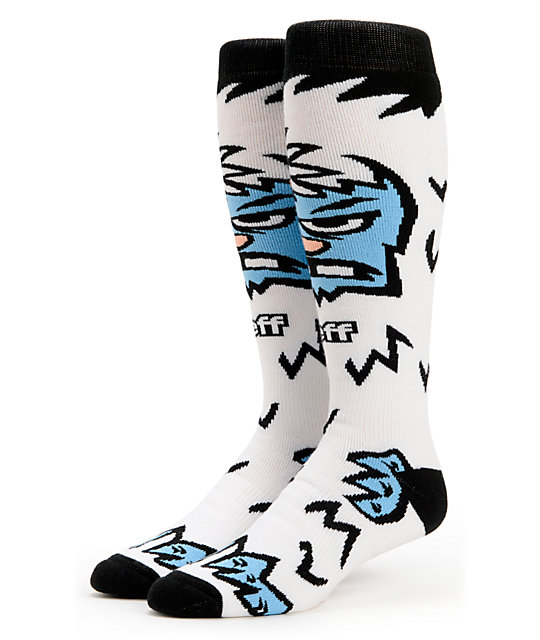 Neff Yeti White Snowboard Sock
