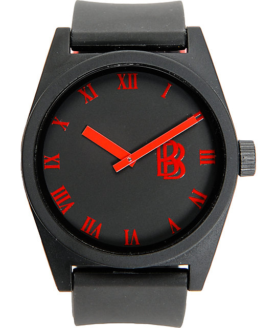 Neff x Ben Baller Black & Red Analog Watch