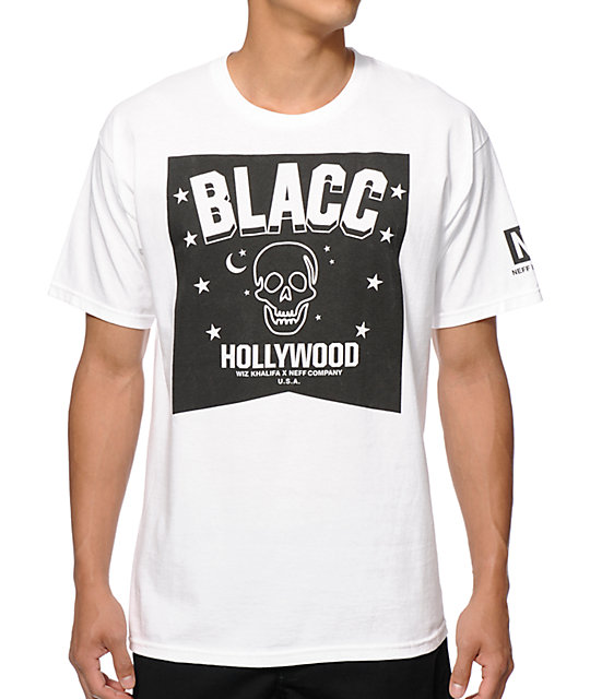 Neff x Blacc Hollywood Blacc Skulls & Stars T-Shirt