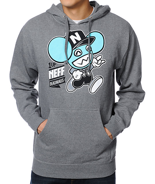Neff x Deadmau5 1Up Grey Pullover Hoodie
