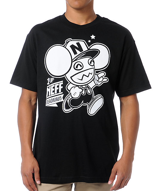 Neff x Deadmau5 Neffmau5 1 Up Black T-Shirt